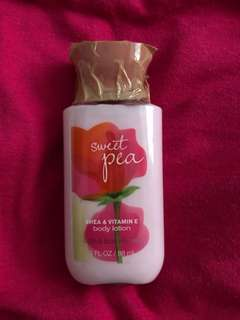 Sweet Pea body lotion