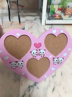 INSTOCK - japan panda heart shape photo frame