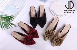 Jose daroca rose mule shoes