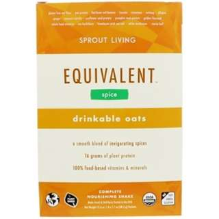 Sprout Living, Equivalent, Drinkable Oats, Spice, 8 Packets, 1.7 oz (48.5 g) Each