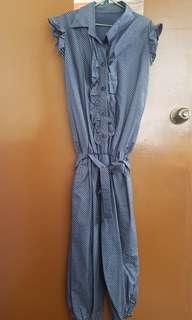 Blue polkadot jumpsuit