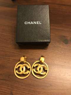 Chanel vintage 香奈兒耳環 復古 古董耳環