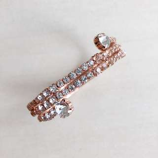 Rosegold Full Rhinestone Bangle