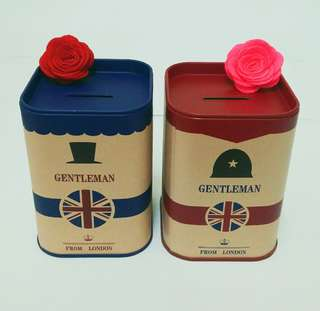 #Free Postage- London Gentleman Piggy Bank for Boyfriend