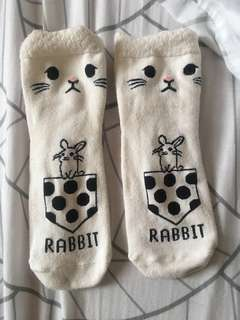 Rabbit Socks (until half of calf)