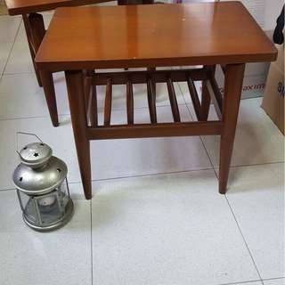 SALE Teak Pencil leg tables - Pak Awang   1 pair