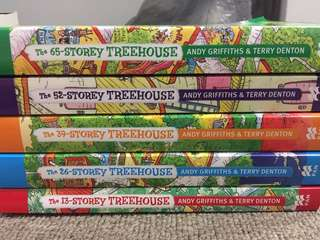 Children's book series 13, 26, 39, 52 and 65-storey treehouse by Andy Griffiths