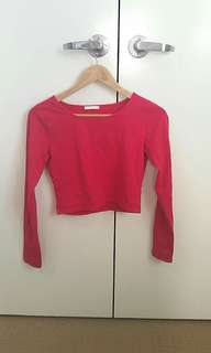 ♡cropped red shirt
