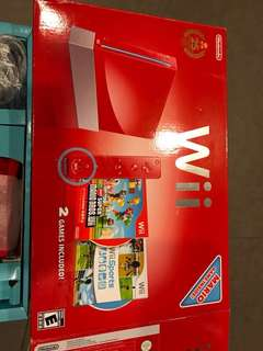 Wii Red MARIO edition