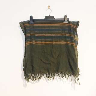 Green Yellow & Blue Striped Scarf