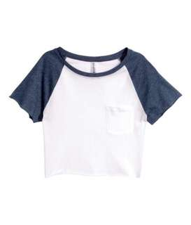 H&M White Crop Top
