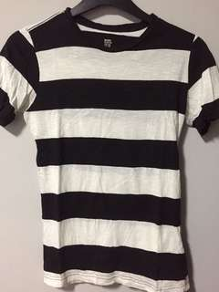 H&M bold monochrome striped tee