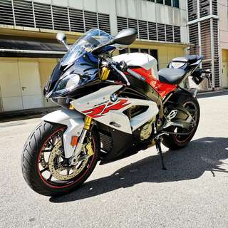 BMW S1000RR, Racing red/Light white. Reg date 22/01/2018, Mileage 1,300km, 1 Owner.