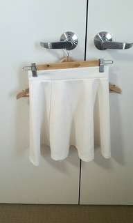 ◇textured skater skirt