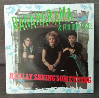 "arth7 BANANARAMA & FUN BOY THREE Realy Saying Something 7"" Inch Single Vinyl Record"