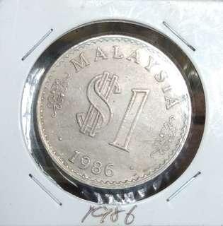$1 Malaysia 1986