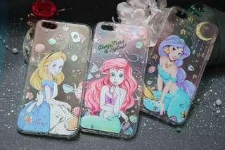 可愛版Ariel手機殼 6p 可愛版愛麗思手機殼 6p 可愛版茉莉公主手機殼 6p