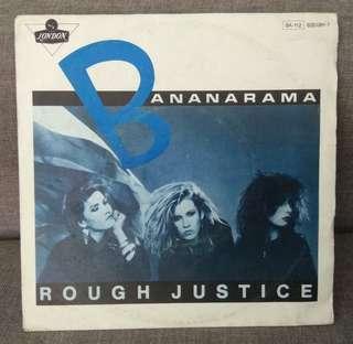 "arth7 BANANARAMA Rough Justice 7"" Inch Single Vinyl Record"