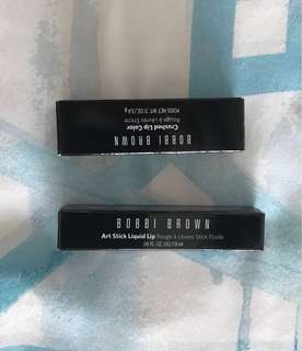 Bobbi Brown lipsticks New