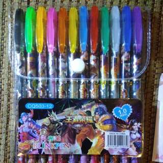 BRANDNEW 12pcs Glitter Colored Pen