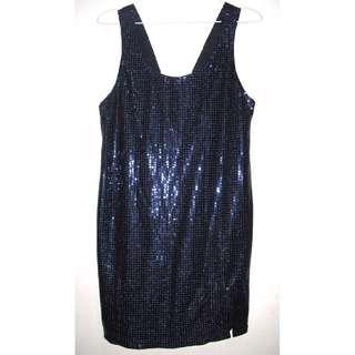 🏅Navy Blue Full Sequin Mini Dress