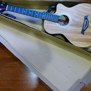 Techno T6600 Zebra Wood Electric Acoustic Guitar