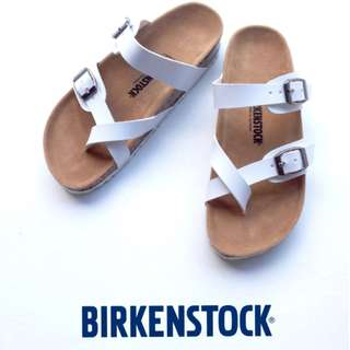 Sendal Birkenstock Wanita Mayari Putih.