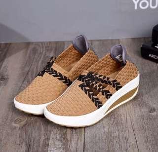 Wedges shoes rajut