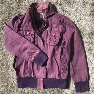 Purple Washed Out Denim Jacket Size XS-S for Guys