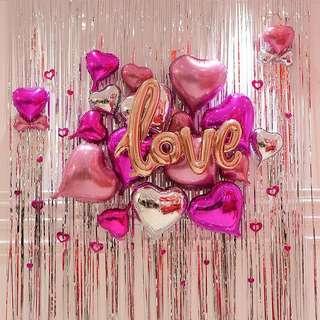 Love balloon deco