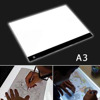 【Out Stock】A3 Large LED Touch Dimmer Art Craft Tracing Tattoo Light Box Pad Board Lightbox with Adaptor