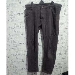 (Gratis) Celana Jeans Coklat