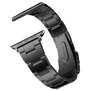 1010. Apple Watch Band, JETech 42mm Stainless Steel Strap Wrist Band Replacement w/Metal Clasp for Apple Watch All Models 42mm (Black)