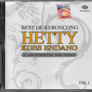 HETTY KOES ENDANG Best of Keroncong Vol.1 CD New