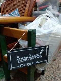 🚚 Wedding Chalkboard 'Reserved' Sign