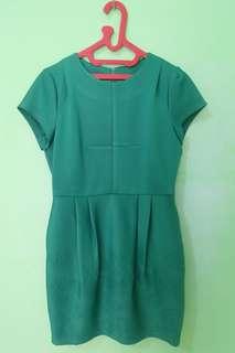 Dress hijau tua mini dress