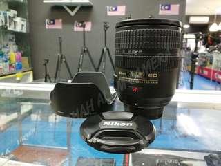 USED NIKON AF-S 24-120MM F3.5-5.6 G ED VR LENS.
