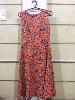 ZARA WOMAN ORANGE DRESS