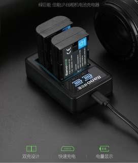 🚚 【Q夫妻】 llano LP-E6 charger 充電器 USB充電 雙槽充電 EOS 5D2 5D3 60D 7D 6D #E1-2