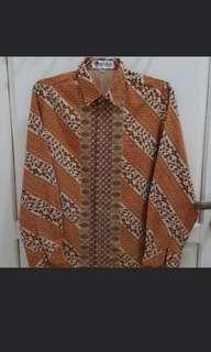 Batik Keris Polyester Prints Size 15.5 setara M (berfuring)