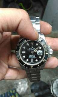 Jual jam rolex submarine vintage. original mesin swiss eta. Bezel keramik bahan baja halus 1,5 nego