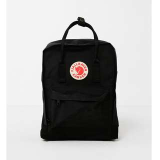 Authentic Black Fjallraven Kanken Backpack
