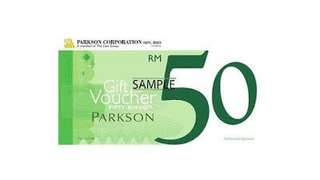 Parkson Voucher RM 1000 sell at RM960