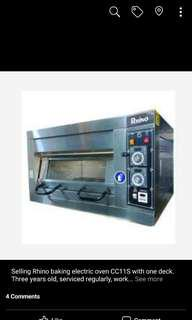 Rhino electric baking oven