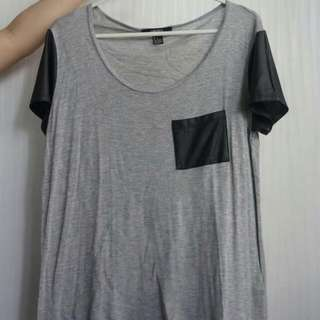 Forever21 Faux Leather Tshirt