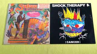 BLACK BUSTER  . salsa ● SHOCK THERAPY . cancer    ( buy 1 get 1 free )   Vinyl record