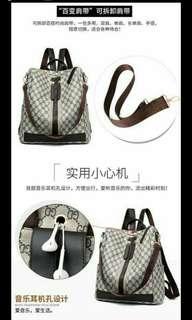 🚚 韓版簡約兩用旅行背包