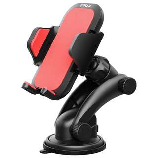 1011. Mpow Car Mount Holder, Universal Dashboard Car Phone Mount Holder/w One-Touch Design&Washable Strong Sticky Gel Pad for iPhone X/8/8Plus7/7P/6s/6P/5S, Galaxy S5/S6/S7/S8, Google, LG, Huawei and etc