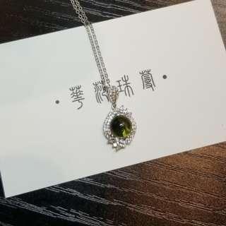【藍珀項鍊(純銀)】