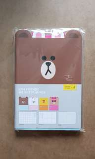 Line friends weekly planner (3 months/15 weeks x 4) 週計劃本4件套裝